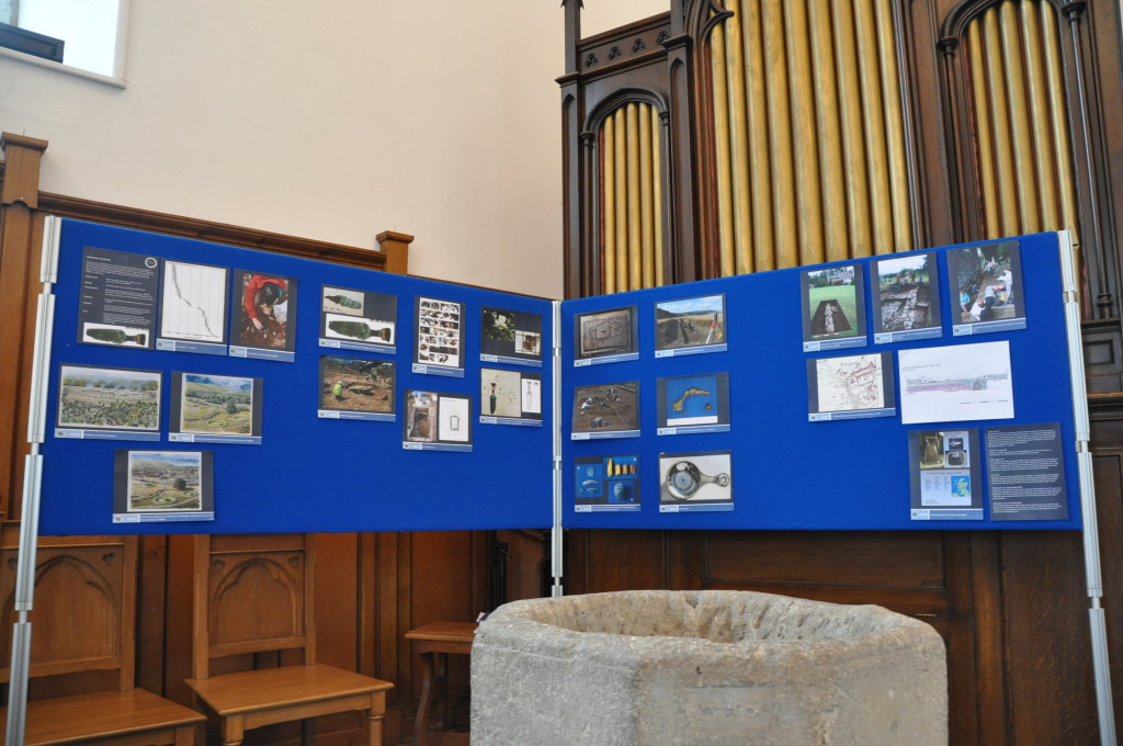 Archaeology display in Forteviot Church.
