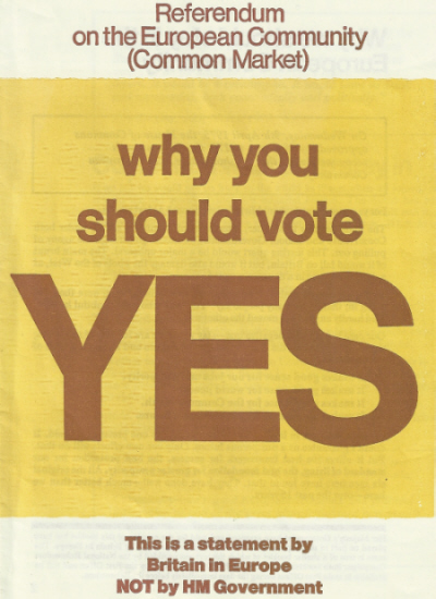 The 1975 'Yes' campaign