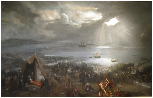 Hugh Frazer's 1828 Oil Painting of the Battle of Clontarf